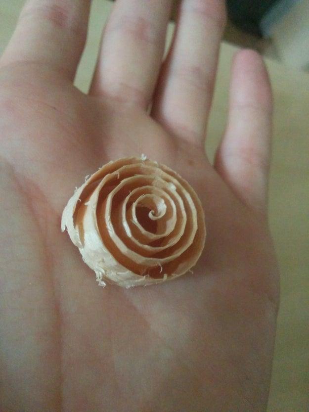 Un espiral perfecto.