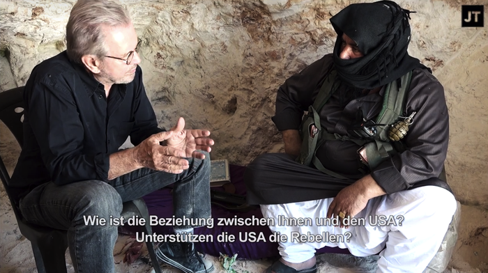 """""""Yes, the USA supports the opposition, but not directly,"""" the commander, identified by Todenhöfer as """"Abu Al Ezz,"""" said. """"They support the countries that support us. However, we are still not satisfied with this support. They should support us with highly developed weapons."""""""