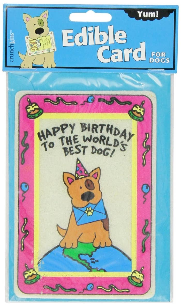 If The Birthday Pup Insists On Eating A Card Let Them Gobble Down An Edible One