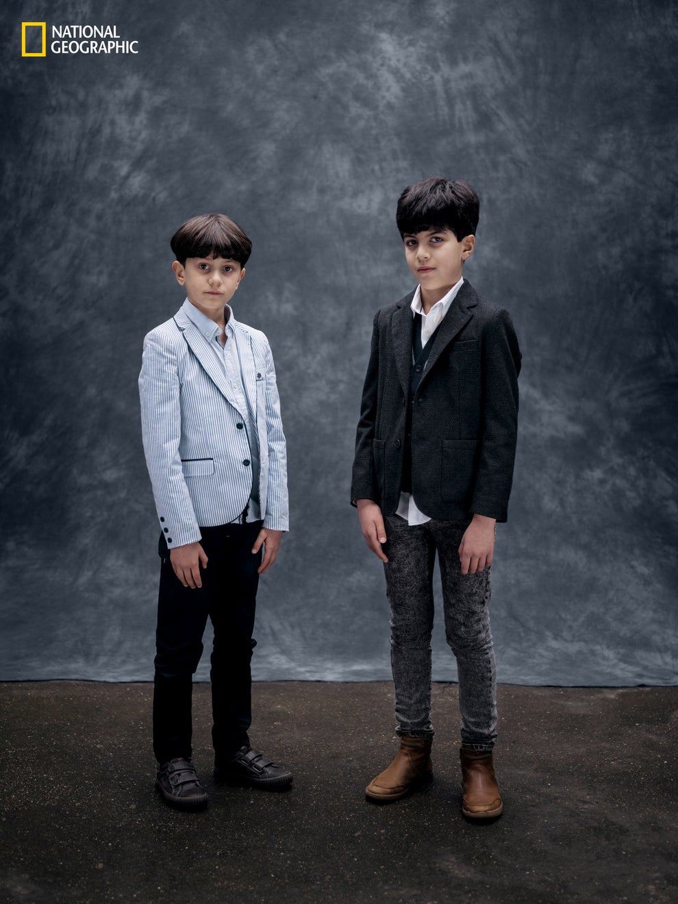 2. Ilyas (left) and Massyle Mouzaoui, ages 8 and10, Paris.