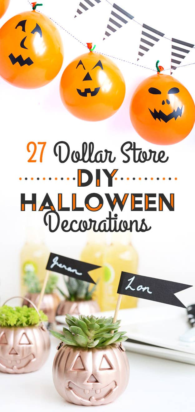 27 Clever Halloween Decorations To Make With Dollar Store Stuff