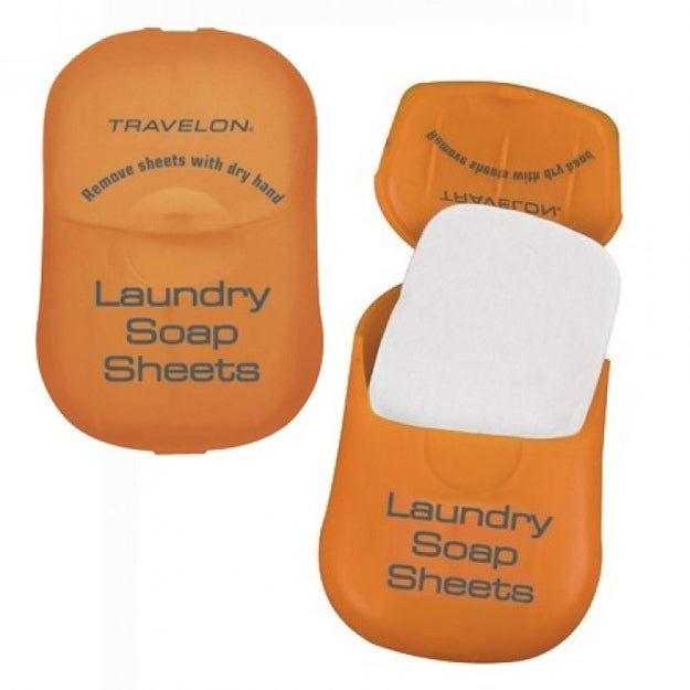 And clean clothes won't be too much of a hassle with these tiny laundry soap sheets.
