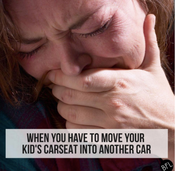Emotions You'll Only Understand If You've Ever Had To Move A Carseat