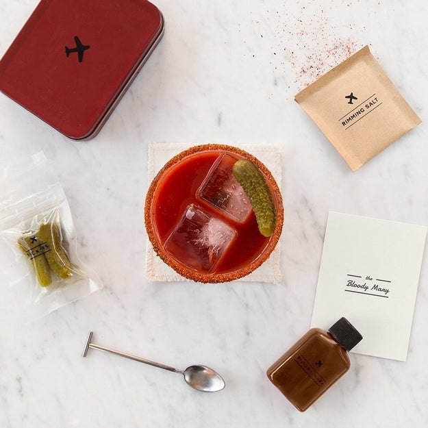 You can treat yourself to a Bloody Mary at any altitude with this cocktail kit.