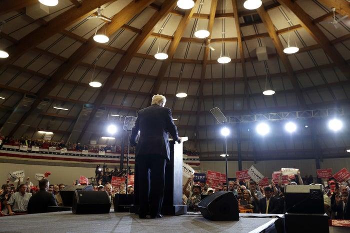Trump in Wisconsin on Wednesday night.