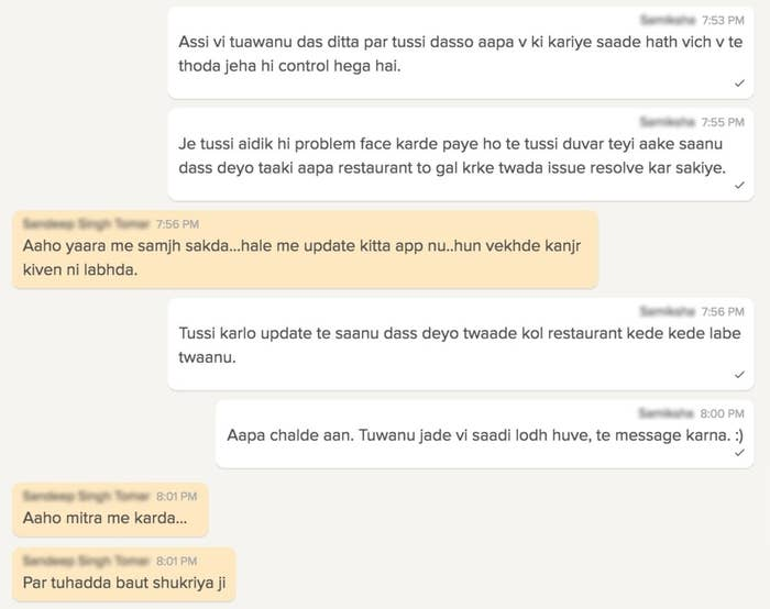 A Zomato Customer Care Rep Had The Best Conversation With A