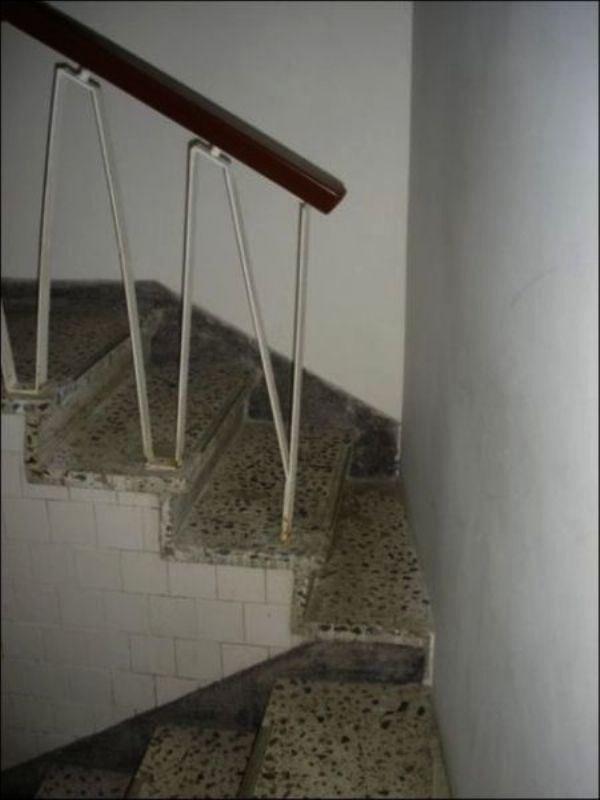 Estas escaleras perfectas para huir de un incendio.