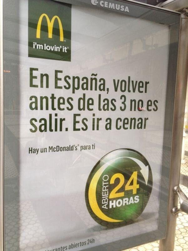 Este cartel que demuestra que en el McDonald's nos tienen completamente calados.