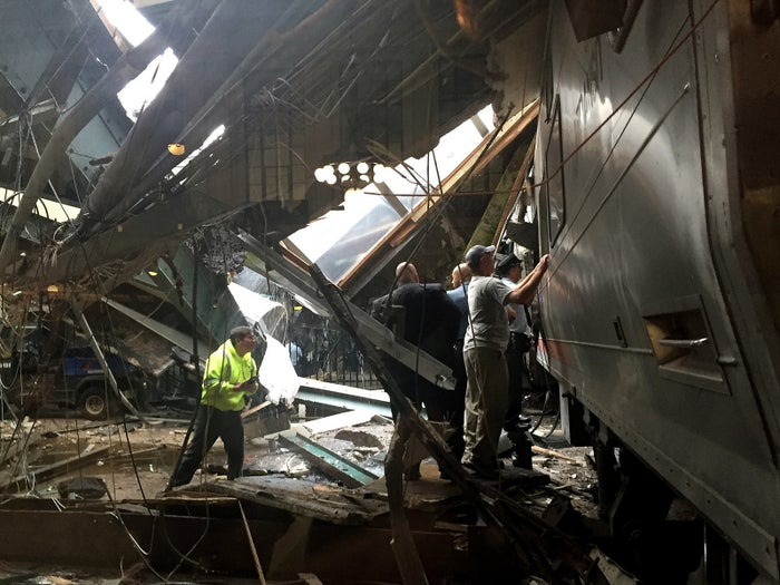 """New Jersey Gov. Chris Christie told reporters the fatality involved a woman who was struck by debris from the crash while she was standing on the platform. She was later identified as 34-year-old Fabiola Bittar de Kroon. She had moved to the area from Brazil earlier this year, the Associated Press reported. Christie told CNN that 114 people were injured and that the train's engineer, who was also """"critically injured,"""" had been released from the hospital and was cooperating with law enforcement officials in the investigation.The crash occurred when Train No. 1614 came into the station at high rate of speed, burst through the barriers, and breaking into the interior wall of Hoboken terminal, Christie said.The train, coming from Spring Valley in New York, was on the Pascack Valley Line. At least three people were in critical condition and eight people were in serious condition, an official from Jersey City Medical Center told reporters. There were also 40 walk-ins at the center.""""We don't have any reason to believe there will be any more fatalities,"""" Christie added.Two days after the incident the train still remains in the terminal, blocking the tracks for other trains, due to """"environmental and structural issues."""""""