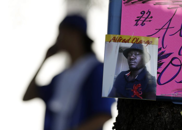 """Family and lawyers working with them on Thursday told reporters Alfred Olango had been unlawfully killed, and they questioned why it took officers so long to respond. Once officers did arrive, Olango — who was holding a vape device — was shot within about a minute. Olango was grieving the death of a close friend, said his mother, Pamela Benge. He was having a mental breakdown, and contrary to some early reports, he did not have a chronic mental health problem, she said.""""Mental breakdown is not easy to control,"""" she said. """"He needed someone just to calm him down."""" Attorney Dan Gilleon attributed the shooting to the officer's """"cowboy mentality."""" Police arrived knowing a person was in mental distress, yet they failed to deescalate the situation, he said. """"Alfred was not mentally ill. He was going through a mental emergency, a mental breakdown because he had lost someone who he loved dearly. We all go through bad days,"""" said Gilleon, who is white. """"I don't know if someone with my skin color would end up dead because they were having a bad day."""""""