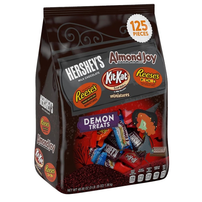 Be even cooler by giving out ~full size~ bars.Get this bag of minis from Amazon for $18.72 (plus save 25% off Halloween candy on Amazon).