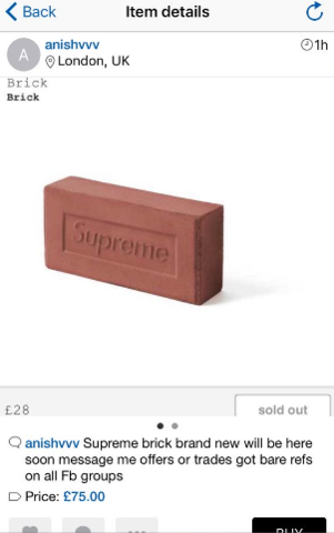 Supreme Sold A Brick And People Absolutely Lost Their Minds