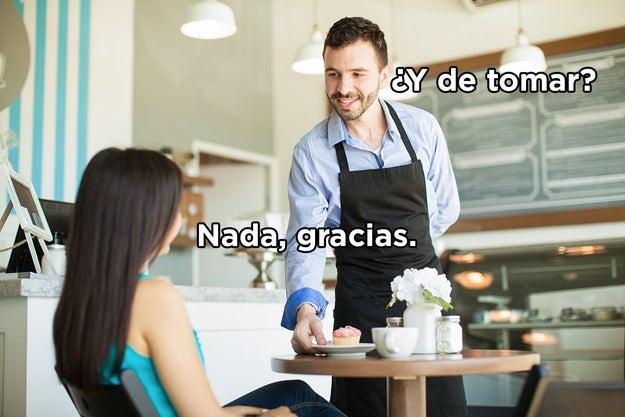 Tú en el restaurante.