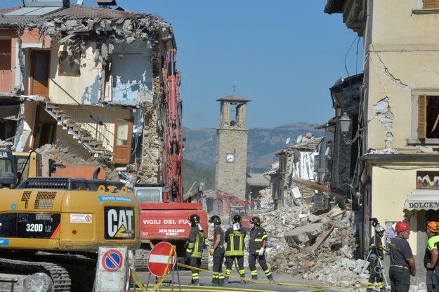 Clean up and recovery efforts are continuing in the Italian towns devastated by last month's magnitude-6.2 earthquake that killed more than 290 people.