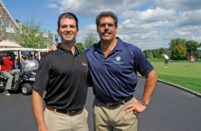 Matthew Calamari (right) with Donald Trump Jr.