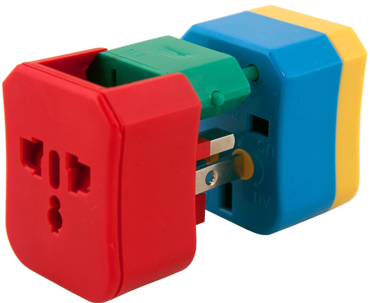 An outlet adapter is a must to keep your electronics charged on international trips.