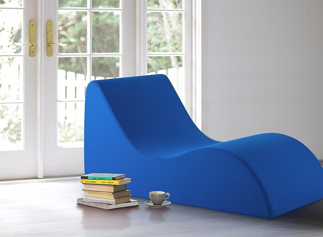 a bold lounge chair made of highdensity comforting foam will earn the title of your new favorite nap spot
