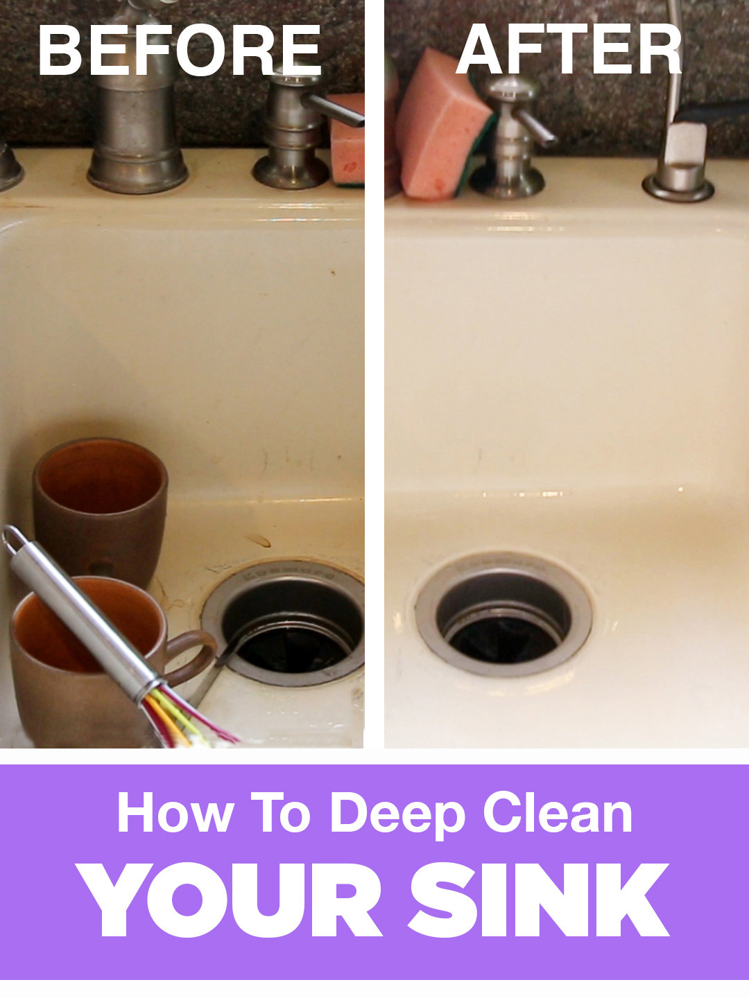 deep clean a dirty sink with this easy routine rh buzzfeed com The Rules to Clean Refrige Steps to Cleaning a Kitchen