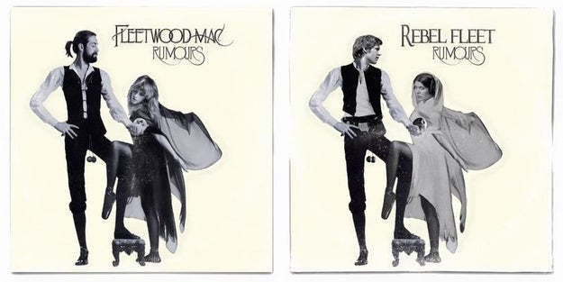 And he's making the freaking awesomest Star Wars themed album cover mash-ups you've ever seen.