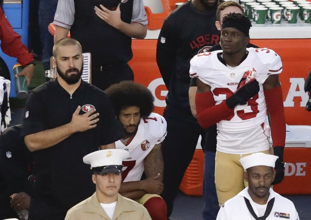 Kaepernick, a quarterback with the San Francisco 49ers, began his silent protest last month.