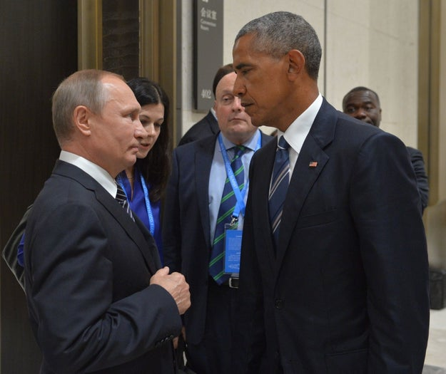 So, given all that, when Obama and Putin greeted one another before the media on Monday, a photographer captured a picture that showed just how much they like each other.