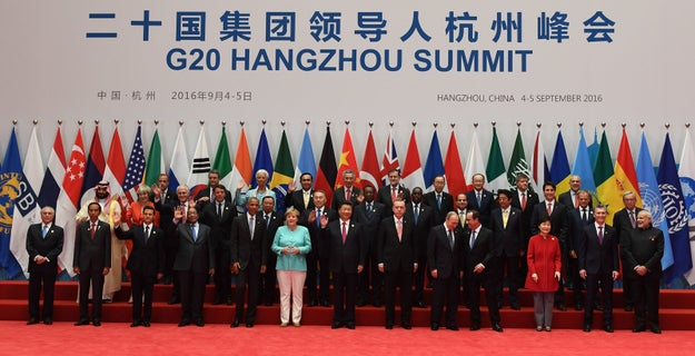 A bunch of world leaders have been meeting in China for the last few days for the annual G20 Summit.