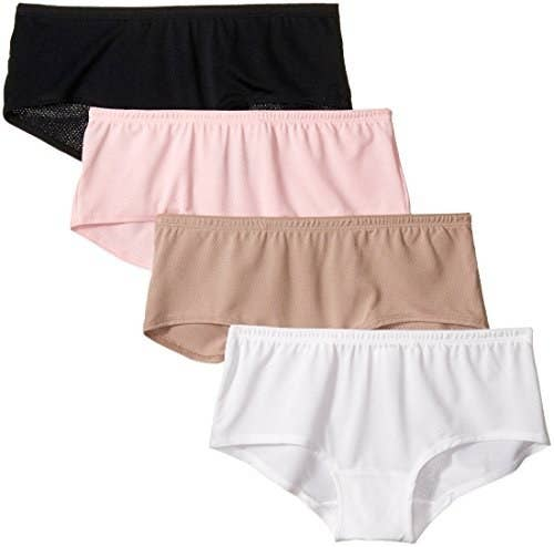 "Price: $8.29+ (for a pack of four; available in sizes S–M) Promising review: ""I love this underwear. The material that it's made of is wonderful. It moves with your body. The breathable fabric allows for a person to work and not have to worry about their undergarments sticking to them. They stay comfortable all day."" —Wanda"