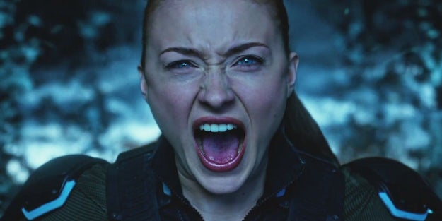 By far, the coolest and most powerful was Jean Grey (Sophie Turner), who's already given us some serious Dark Phoenix vibes.