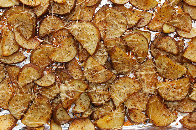 ... Is Not Complete Without These Easy Roasted Garlic Parmesan Potatoes