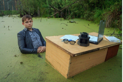 Last month 16-year-old Igor Nazarov became a global meme after posing for a photo shoot in a swamp.