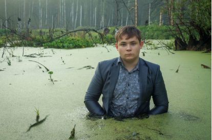 Igor and his brother Alex put together the shoot for a competition on Russian social media site VK. The swamp was suppose to symbolize his reluctance to enter the workplace and the routine of working life.