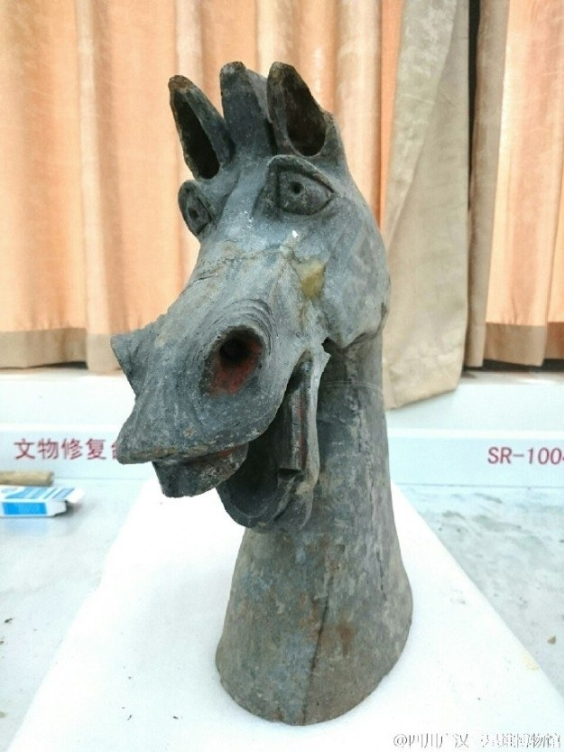 Well check out this extremely relatable horse. It's over 2,000 years old.