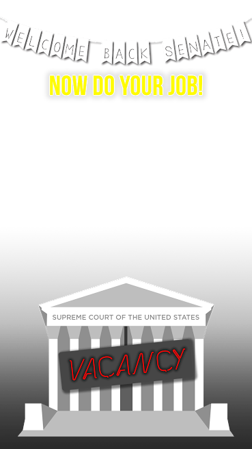 The We Need Nine campaign's Wednesday Snapchat filter: