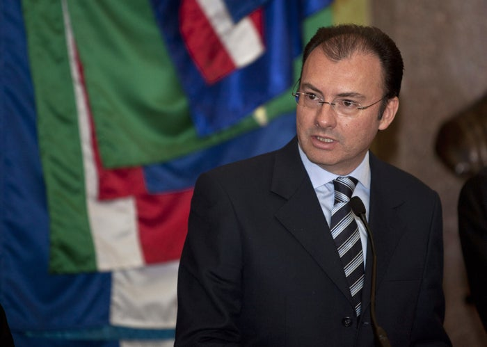 Mexico's Finance Minister Luis Videgaray gives a press conference at the National Palace in Mexico City on Dec. 14, 2012.