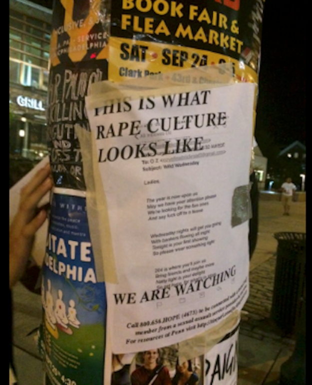 Silberling said some of the flyers have been taken down from public places, but the ones posted on bulletin boards in dorm buildings and on poles around campus are still there.