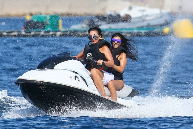 Kourtney Kardashian and Kris Jenner are currently vacationing in Antibes, France partying on yachts like the rich Kardashians that they are.
