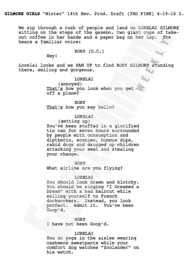 Without further ado, here's page one of Gilmore Girls: A Year In The Life. Enjoy this. You deserve it.