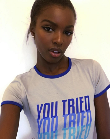 "British model Leomie Anderson has brought out a new clothing line that she hopes will ""spread positivity among women""."