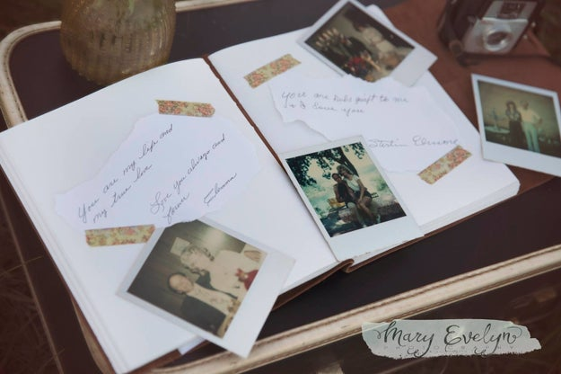 To top it all off, they brought along a book filled with old photos from their marriage and notes they'd written to each other for the occasion.