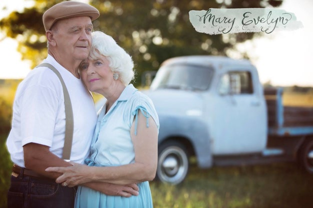 This is Clemma and Sterling Elmore, and they've been married for a whopping 57 years. On Sept. 2, they did a ridiculously adorable photo shoot inspired by The Notebook, because that movie hasn't made you cry enough already.