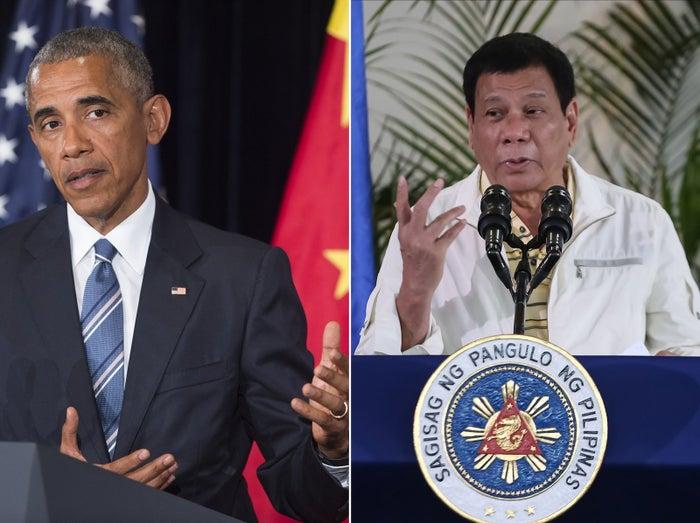 US President Barack Obama and Philippines President Rodrigo Duterte
