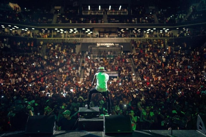 Wizkid at One Africa Music Fest in Brooklyn.
