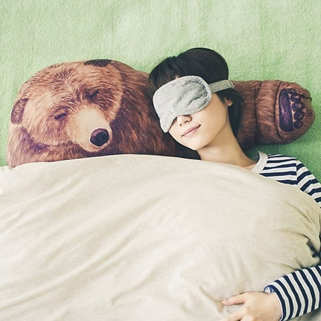 An adorable pillow that'll wrap you in a bear hug.