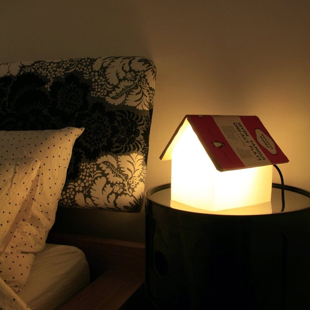 A bedside lamp that doubles as the bookmark you need when you start to drift off.