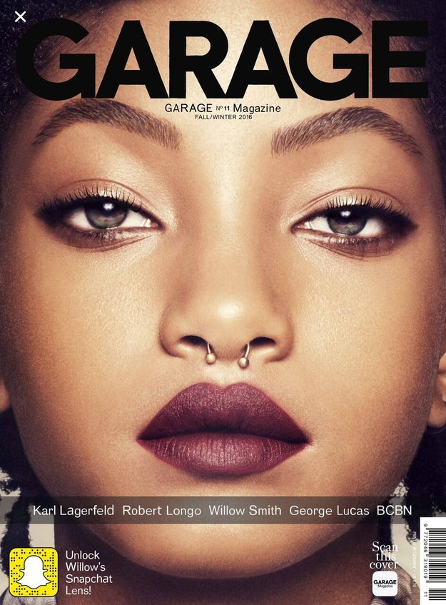 Willow Smith is on the cover of Garage Magazine and... well, she slays so hard it's easy to forget she's only 15.