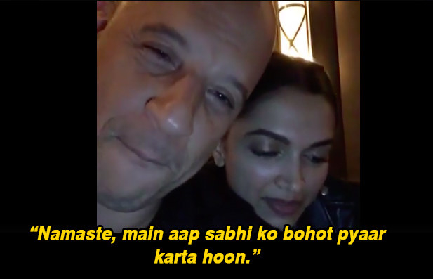 While talking about how he has to prep for promotions in India soon, Diesel also got a quick Hindi lesson from Padukone, and pretty much nailed it.