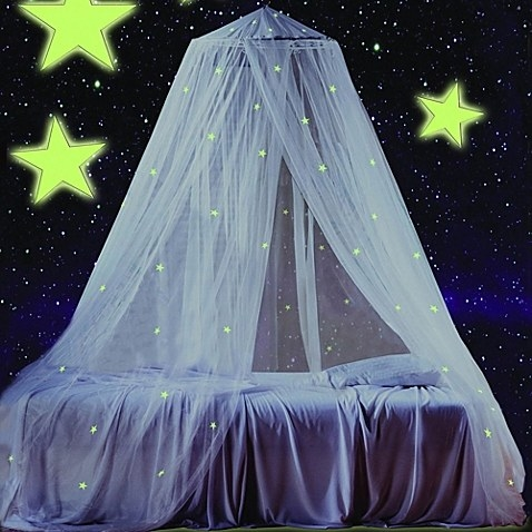 A glow-in-the-dark bed canopy that makes every night a starry night.