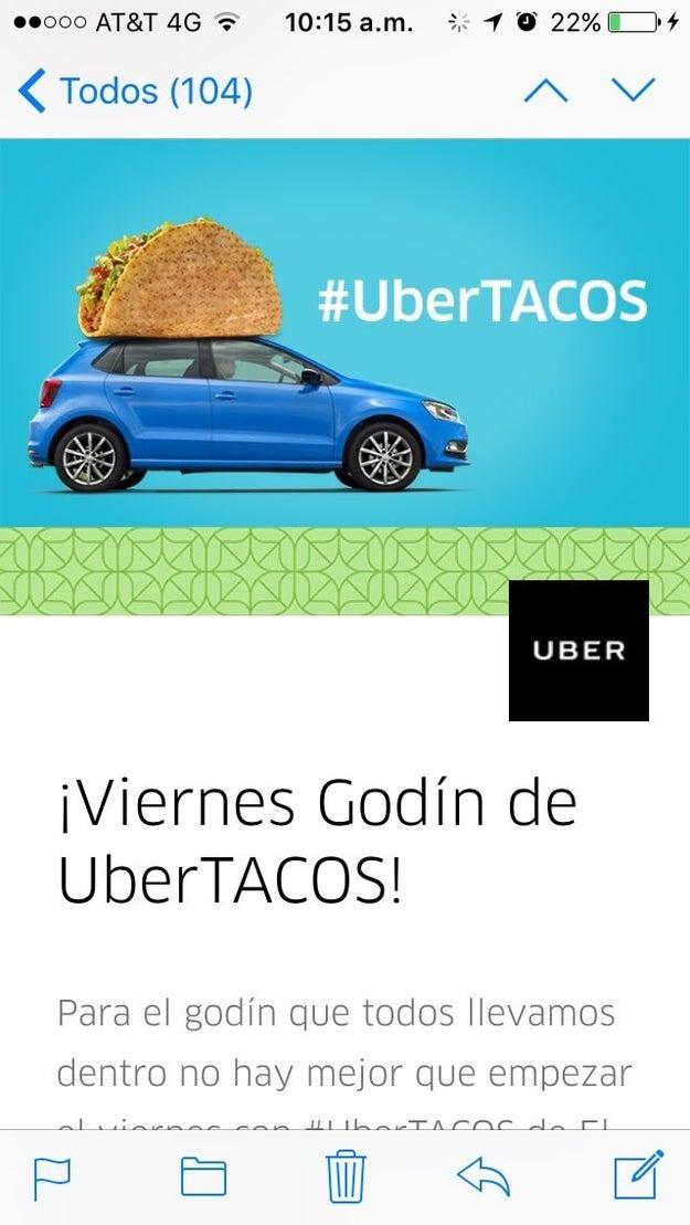 Si eres uno de los afortunados que vive en las ciudades que tienen #UberTacos aquí puedes ver cómo pedirlos.