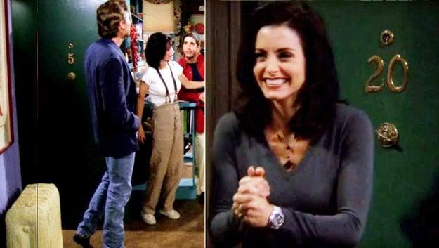 Inicialmente, el departamento de Joey y Chandler era el #4 y el de Mónica y Rachel el #5.