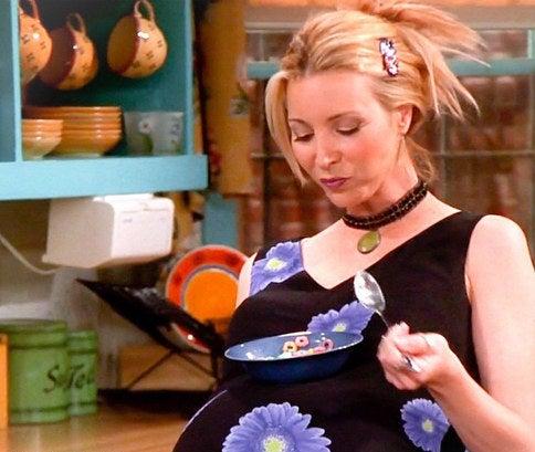 Los productores aprovecharon el embarazo de Lisa Kudrow para meter la historia de los trillizos.